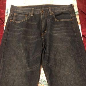 Levi's blue jeans.